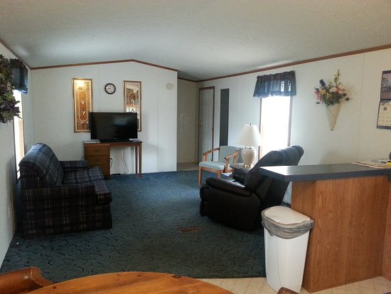 Indian River, MI: Mobile home living room.