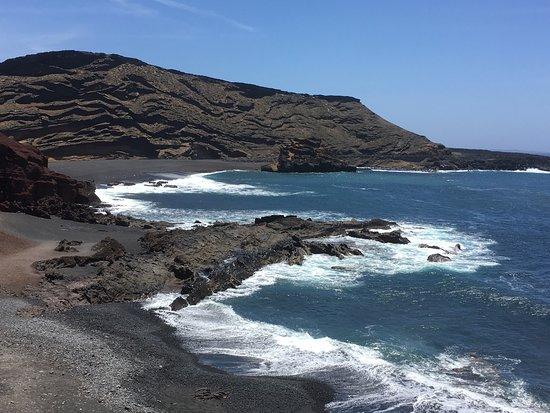 El Golfo, Spania: Auch die Brandung ist sehr schön
