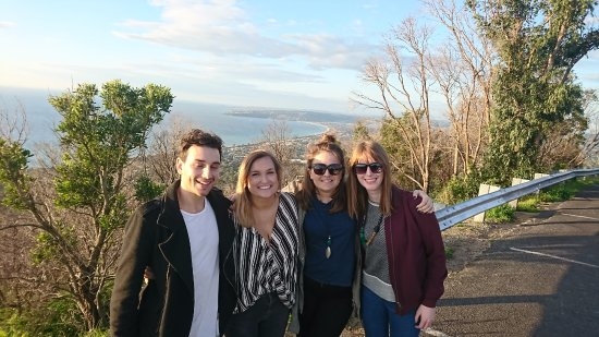 Rosebud, Australia: My group at the spectacular Arthurs Seat Lookout - a great way to end our tour.