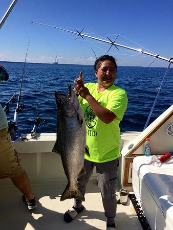Sheboygan, WI: Chinook Salmon caught by HI-TECH Sport Fishing Charters July 2016