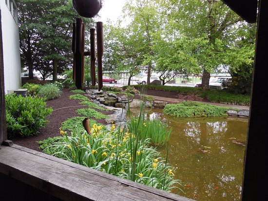 Shenandoah Heritage Market: Savor the koi pond coming and going.