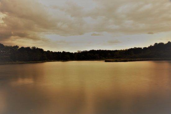 Hammondsport, NY: Sundown over the other pond