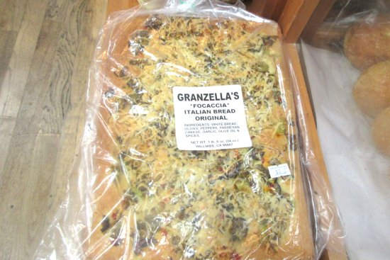 Foccacia, Granzella's Restaurant & Deli, Williams, Ca