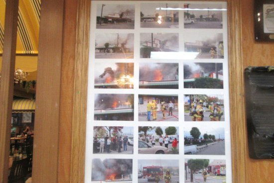 Pictures from Fire, Granzella's Restaurant & Deli, Williams, Ca