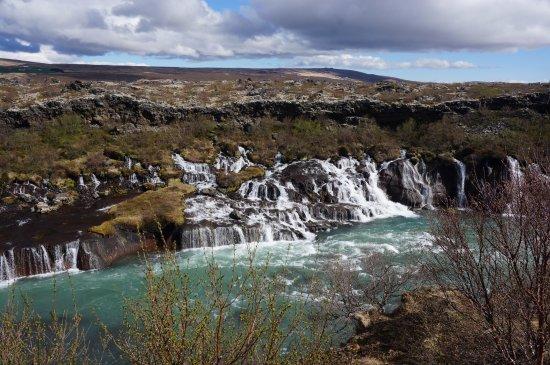 Husafell, İzlanda: hraunfoss