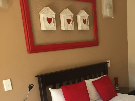 "Upington, South Africa: Lovely decor in the ""red and white room""."