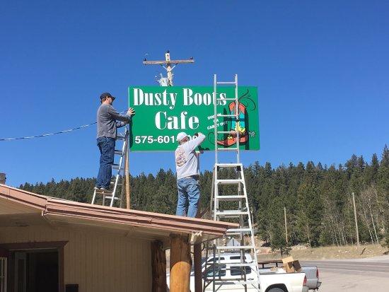 Cloudcroft, Νέο Μεξικό: Dusty Boots Cafe