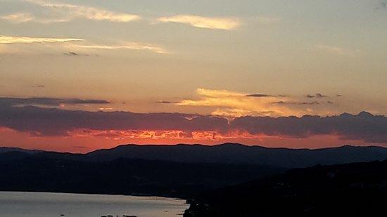 Akrathos Beach Hotel: Sonnenuntergang