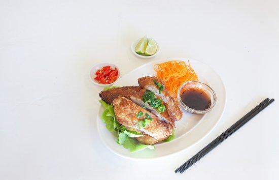 Randwick, Australia: Crispy Skin Chicken: (Ga Da Gion) Marinated chicken in garlic and cinnamon powder