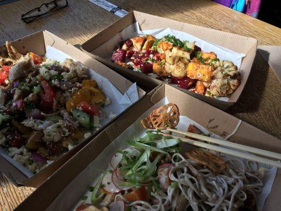 Trigg, Australia: Soba Noodles, Haloumi and Baked Veggies, Chicken Stir Fry