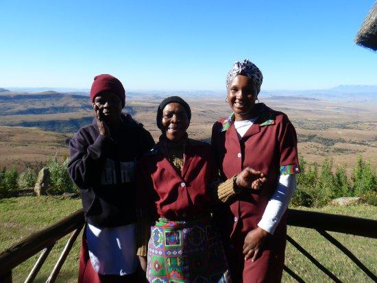 Bergville, แอฟริกาใต้: Friendly cleaning ladies