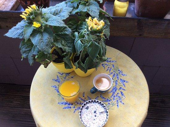 Saint-Remy-de-Provence, ฝรั่งเศส: Fresh one man breakfast in St Remy