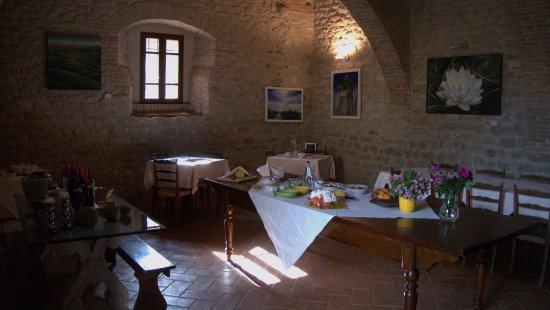 Castiglione della Valle, Italia: Gotischer Saal, auch für Feste buchbar