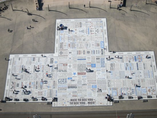 Comedy Carpet : Taken from the tower