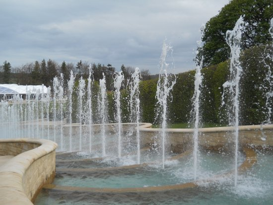 Alnwick, UK: part of the fountains display