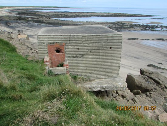 Newbiggin-by-the-Sea, UK: World War 2 Pillarbox