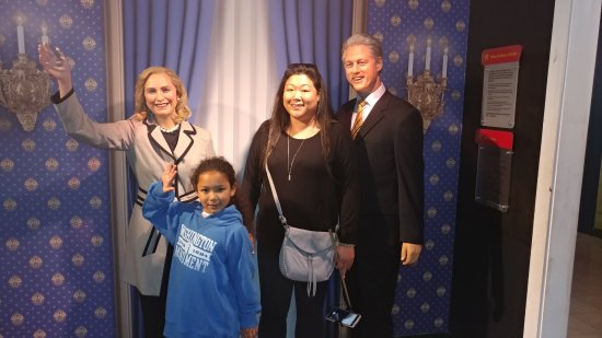 Madame Tussauds DC: Bill and Hillary and my beloveds!