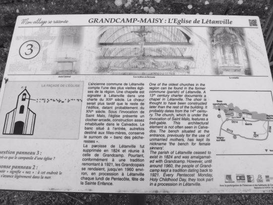 Grandcamp-Maisy, Francia: Le panneau explicatif