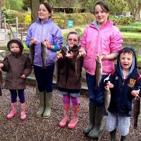 Muddiford, UK: Family fishing, catch your own tea