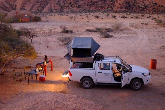 Usakos, Namibia: Super emplacement avec sanitaires propres