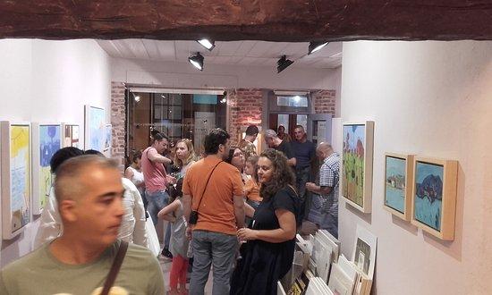 Myrina, Greece: From the opening of  Christos Kechagioglou exhibition