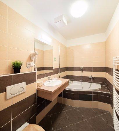 Hustopece, Tsjekkia: Koupelna Mezonetového apartmá