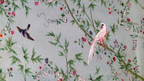 Chatsworth House Hand Painted Wallpaper Of The 1830s