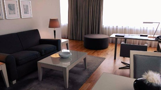 The Mandala Hotel: The lounge/dining/kitchen area of my Executive Suite.