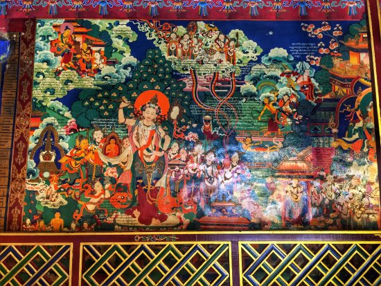 Nedong County, China: Walking clockwise to see an interesting mural...