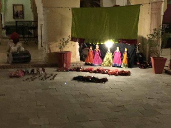 Alsisar, Indien: Puppet show