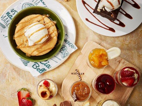 Brighton and Hove, UK: Bella Italia desserts