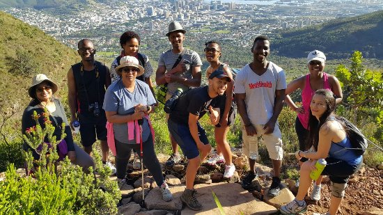 Hike Table Mountain: Table Mountain Hike - you laways meet friendly groups up the path encouraging you, so dont give