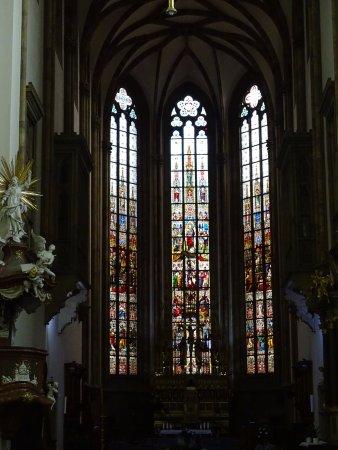 Brno, جمهورية التشيك: Stained glass