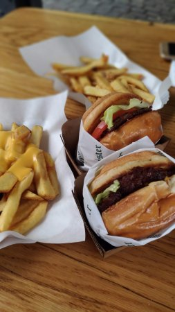 Burgermeister with fries and cheese
