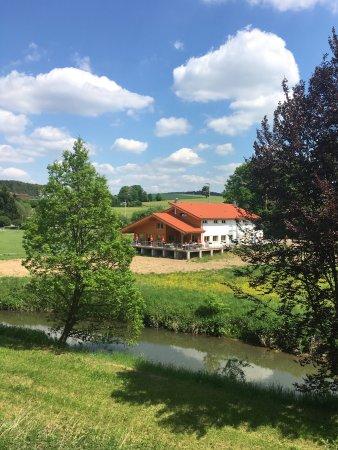 Tiefenbronn, Germany: NEUNZEHN03 im Mai 2017 Blick auf die Sonnenterrasse