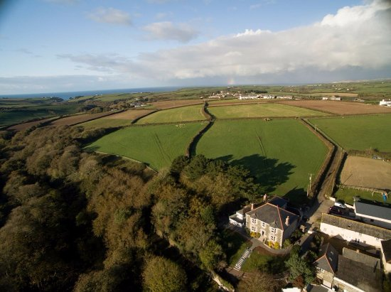 Cury, UK: Looking from Nanplough to Mounts Bay