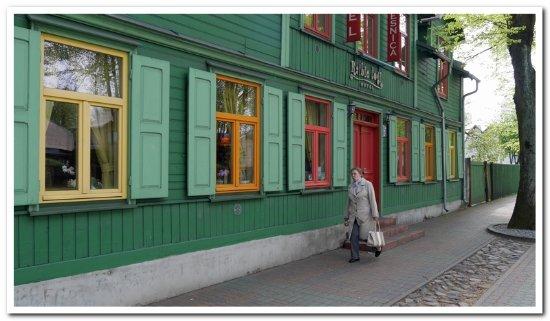 Ventspils, Latvia: voorkant hotel