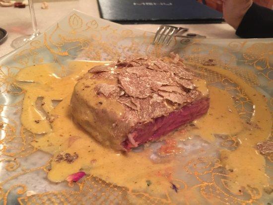 Cinto Euganeo, Italien: filetto al tartufo in crema di zucca