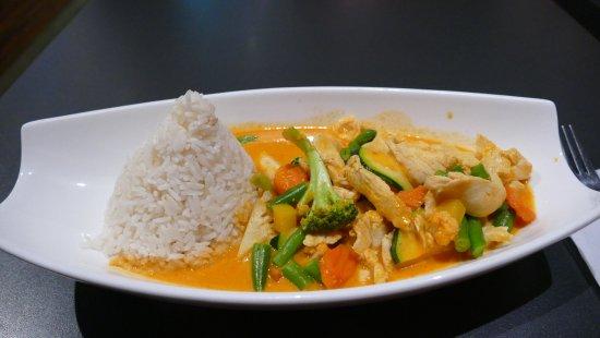 Asiagourmet: Spicy Mango Curry. Scharf war es aber nicht