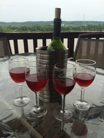 Vevay, IN: Black Jack wine with friends