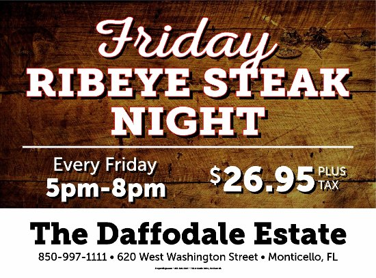 Monticello, Флорида: Friday Night Steak Night