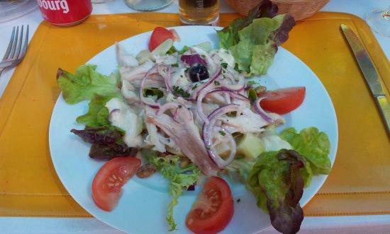Ile d'Aix, France: Salade de raie tiède
