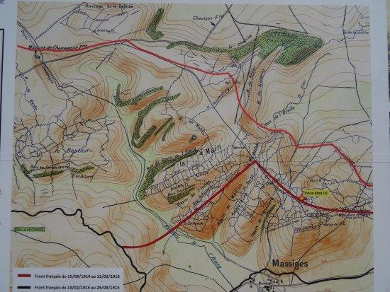 Massiges, France : Plan du site