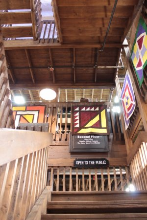 Nappanee, IN: Open Staircase to the Hoosier Cabinet Museum at Coppes Commons