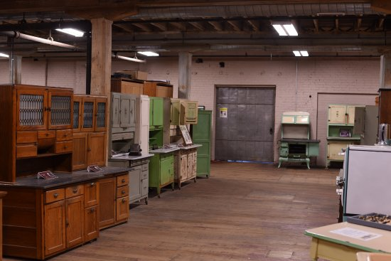 Nappanee, IN: Visit the Hoosier Cabinet Museum on the second floor of Coppes Commons