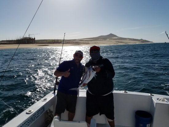 Cabo Fishing Charters: Other son with his first Rooster