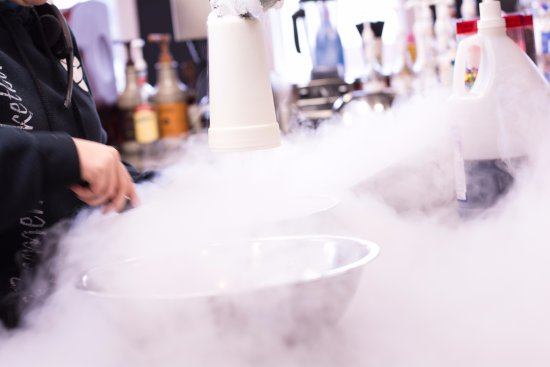 Nappanee, IN: Voted among Indiana's Best Ice Cream, Rocket Science uses liquid nitrogen to flash freeze your t