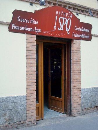 Osteria SPQ Milano : Nuovo ingresso, nuova insegna