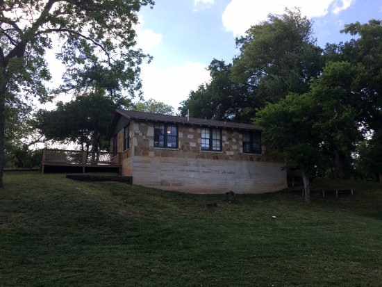"""Tres Rios Park: """"Cabin"""" from the back. This is a duplex. So online it is """"Cabin 3 & 4"""""""