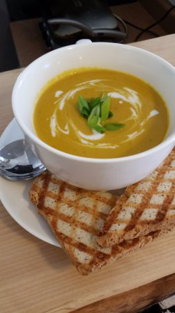 Sackville, Canada: Daily Soup Specials.  Always Gluten-Free and Vegan.